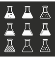Flask icon set vector image