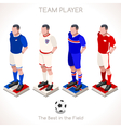 Football 03 People Isometric vector image