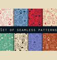 geometric seamless patterns memphis style 80s vector image