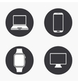 modern gadget icons set vector image
