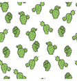 Seamless pattern with cactus prickly pea vector image