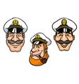 Ship captains in white peaked caps vector image