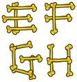 skull bone alphabet2 resize vector image