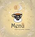 restaurant menu card design vector image vector image