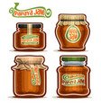 papaya jam in glass jars vector image