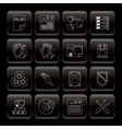 server side computer icons vector image