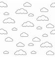 Baby seamless pattern Light fun sky print vector image