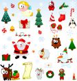 Christmas symbols collection vector image