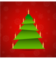 Colorful origami christmas with candles vector image