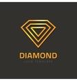 Diamond logotype golden jewel logo concept vector image