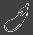 eggplant line icon vegetable and diet vector image