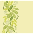 Green Leaves Vertical Seamless Pattern Background vector image
