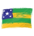 Grunge Sergipe flag vector image