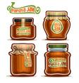 papaya jam in glass jars vector image