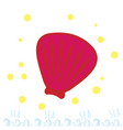 pink seashell on the beach summer time sea or vector image