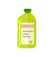plastic bottle with chemicals icon vector image