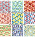 Set Of Nine Textured Natural Seamless Patterns vector image