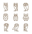 Set of Owl Logos and Emblems vector image