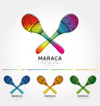 stylized image of pair colorful maracas vector image