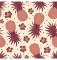 Vintage pineapple seamless pattern vector image