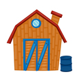a wooden house vector image vector image