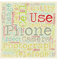 Photography And The Cell Phone text background vector image