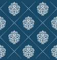 pattern in style victorian baroque vector image