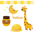 isolated color yellow group vector image