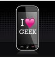 I love geek vector image