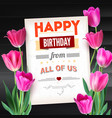 happy birthday vintage text poster composition on vector image