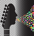 Transparent BG Guitar vector image
