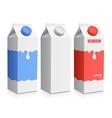 Milk carton with screw cap vector image vector image