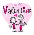 be my valentine vector image