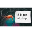 Letter S is for shrimp vector image