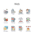 Web Outline Icons pr vector image vector image