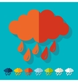 Flat design cloud vector image