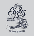 flying eagles air show vector image