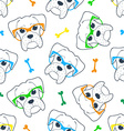 Seamless doodle hipster pattern with a boxer in vector image