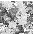 Seamless vintage black and white floral background vector image