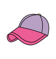 sport cap purple and pink accessory fashion vector image