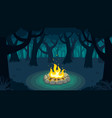 forest campfire vector image vector image