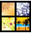 season squares vector image