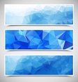 Polygonal Banners Set vector image vector image