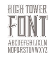 handy crafted vintage label font vector image