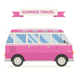 Rv Travel Family Bus Icon In Flat vector image