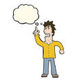 cartoon angry man making point with thought bubble vector image