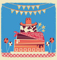 cowboy happy birthday card for text vector image