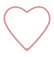 Frame heart the little hearts of red color on a vector image