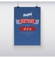 Poster Happy Birthday vector image