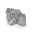 professional camera hand drawn vector image